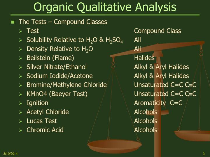 Organic qualitative analysis3