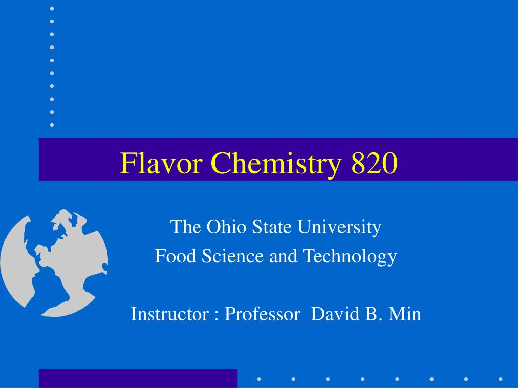 flavor chemistry 820 l.
