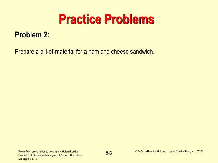 Practice problems3