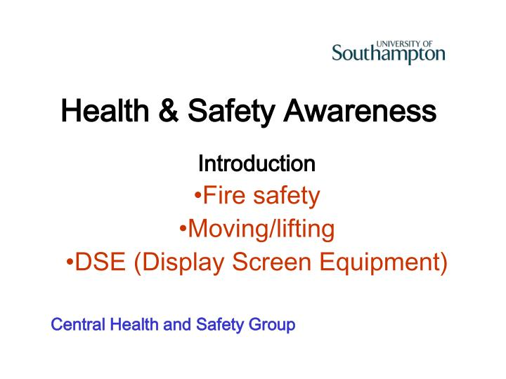 health safety awareness n.