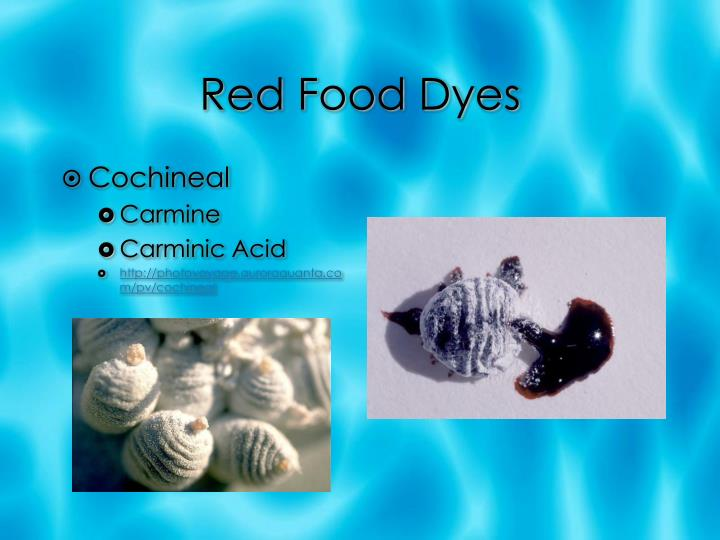 Red food dyes