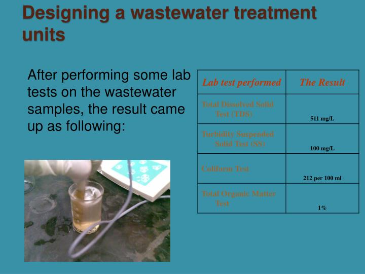 Designing a wastewater treatment units