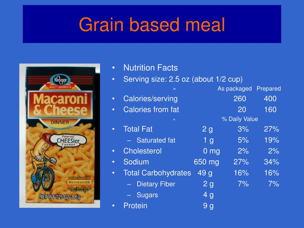 Grain based meal