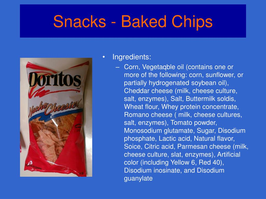 Snacks - Baked Chips