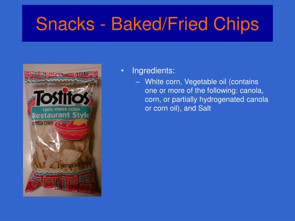Snacks - Baked/Fried Chips