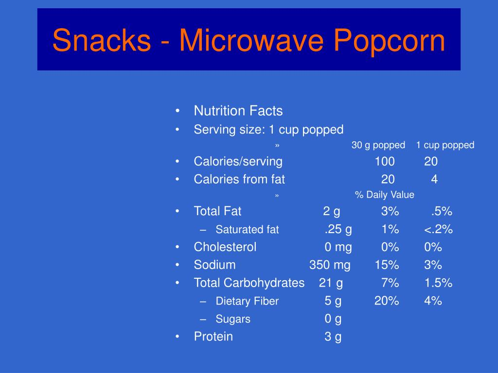 Snacks - Microwave Popcorn
