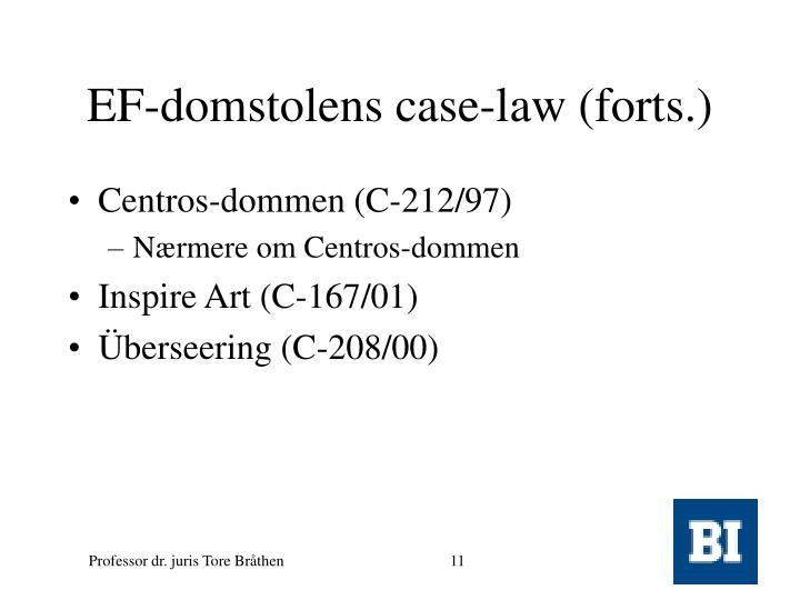 EF-domstolens case-law (forts.)