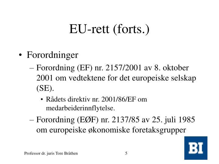 EU-rett (forts.)