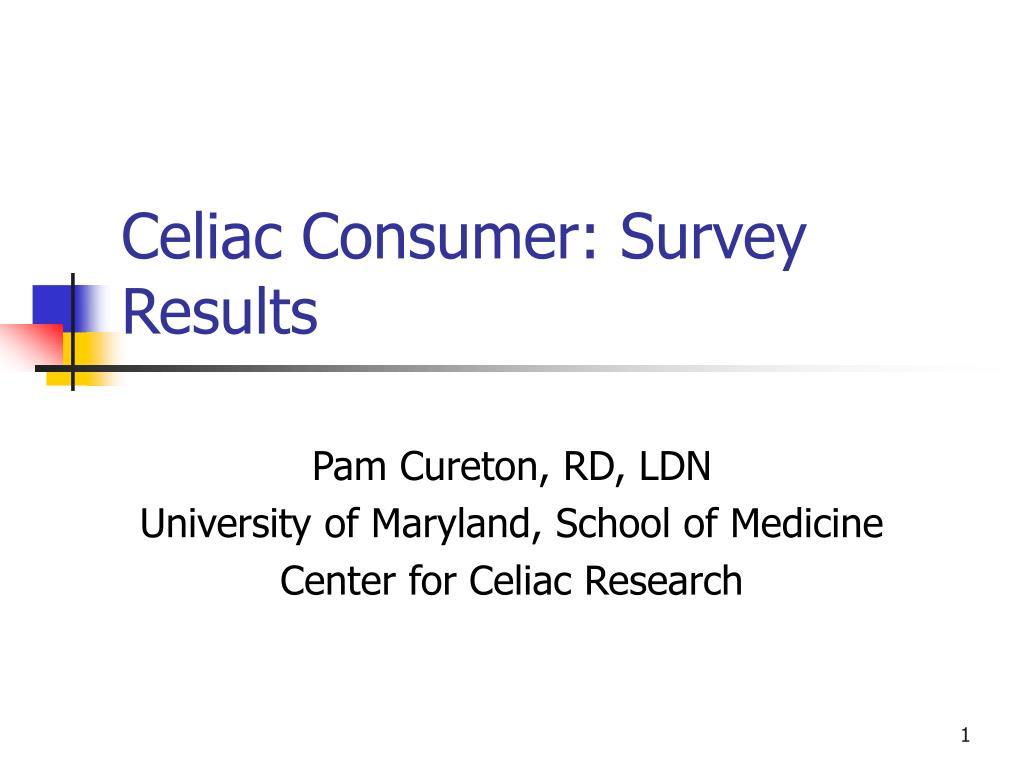 celiac consumer survey results l.