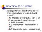 what should gf mean