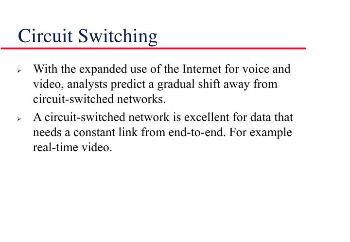 PPT - Packet Switching Vs Circuit Switching PowerPoint Presentation ...