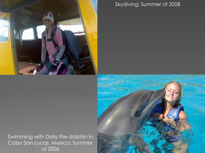 Skydiving: Summer of 2008