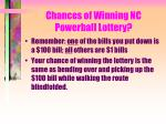 chances of winning nc powerball lottery