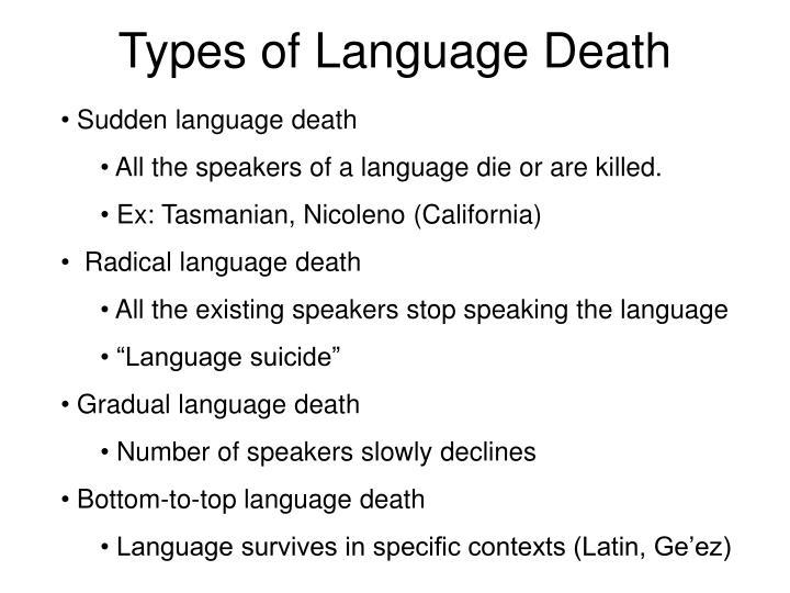 Types of Language Death