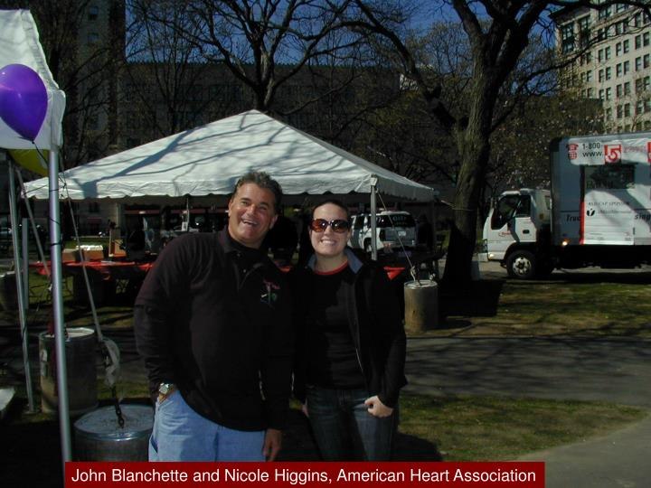 John Blanchette and Nicole Higgins, American Heart Association