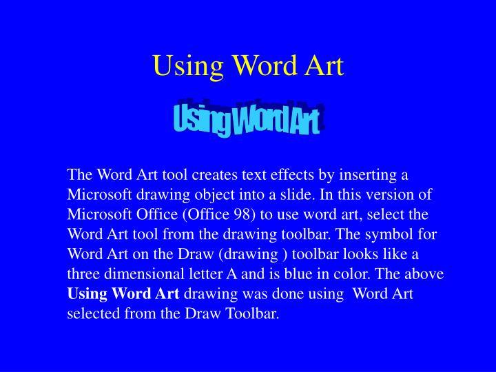 Using Word Art