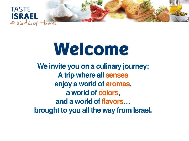 We invite you on a culinary journey: