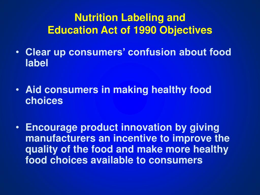 Nutrition Labeling and