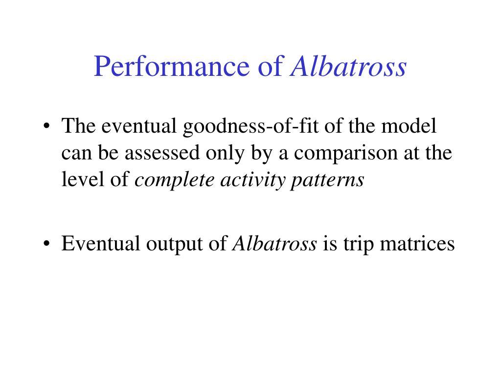 Performance of