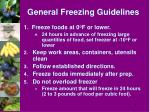 general freezing guidelines