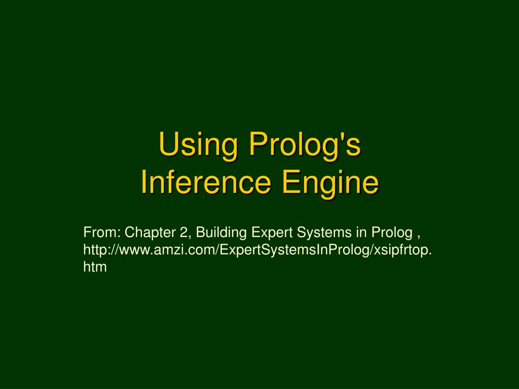using prolog s inference engine