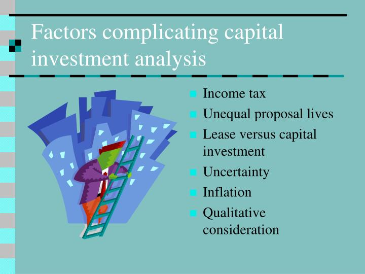 capital investment analysis and inflation and capital investment analysis with taxation essay Chapter 5 dcf with inflation, taxation and working capital producing and selling product p will call for increased investment in working capital analysis of.