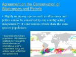 agreement on the conservation of albatrosses and petrels6
