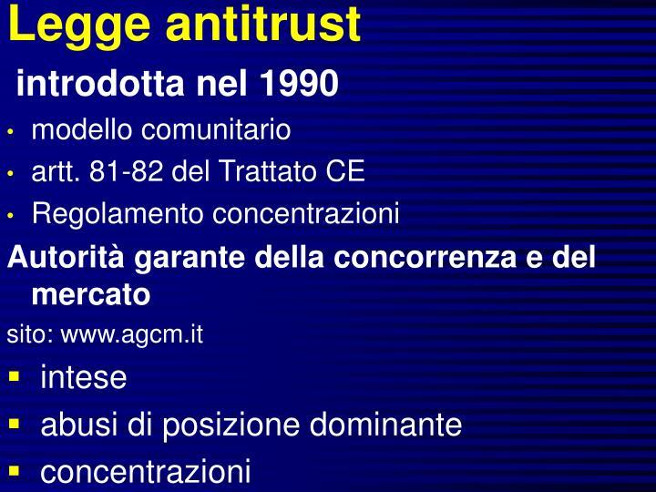 Legge antitrust