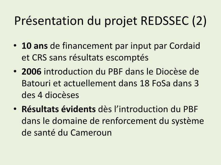 Présentation du projet REDSSEC (2)