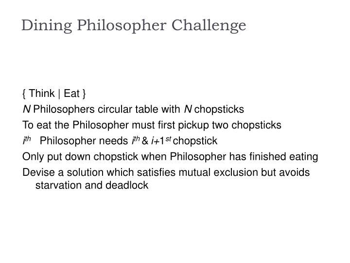 Dining Philosopher Challenge