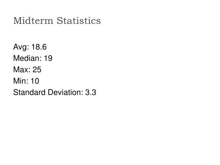 Midterm statistics
