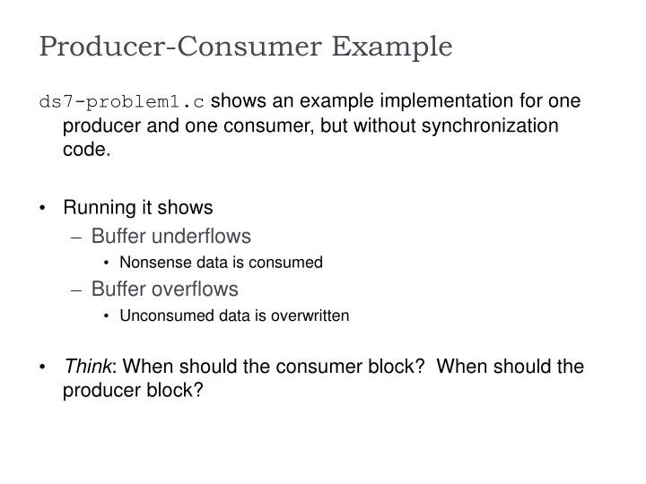 Producer-Consumer Example