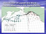 distribution of laysan and black footed albatross in the north pacific