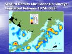seabird density map based on surveys conducted between 1974 1982