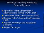 increased in activity to address seabird bycatch