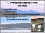 4 prohibition against certain practices