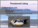 threatened listing19
