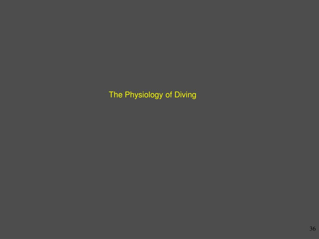 The Physiology of Diving
