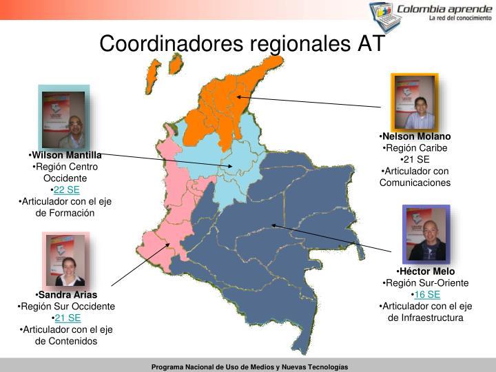 Coordinadores regionales AT