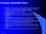 actuator assembly parts