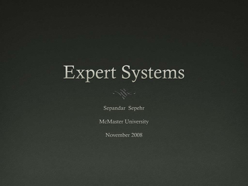 expert systems l.