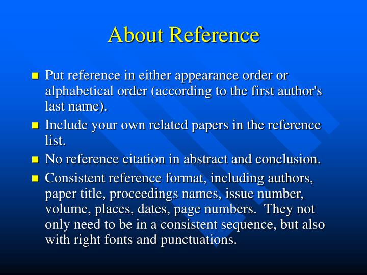 About Reference