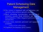 patient scheduling data management