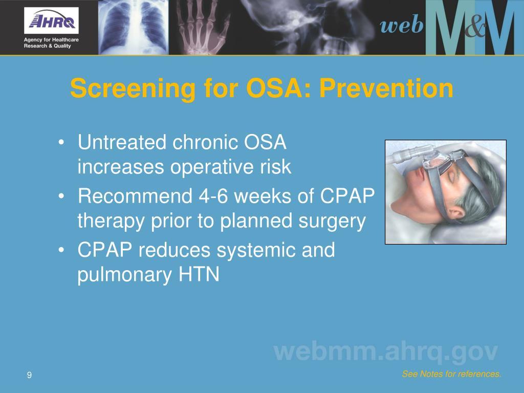 Screening for OSA: Prevention