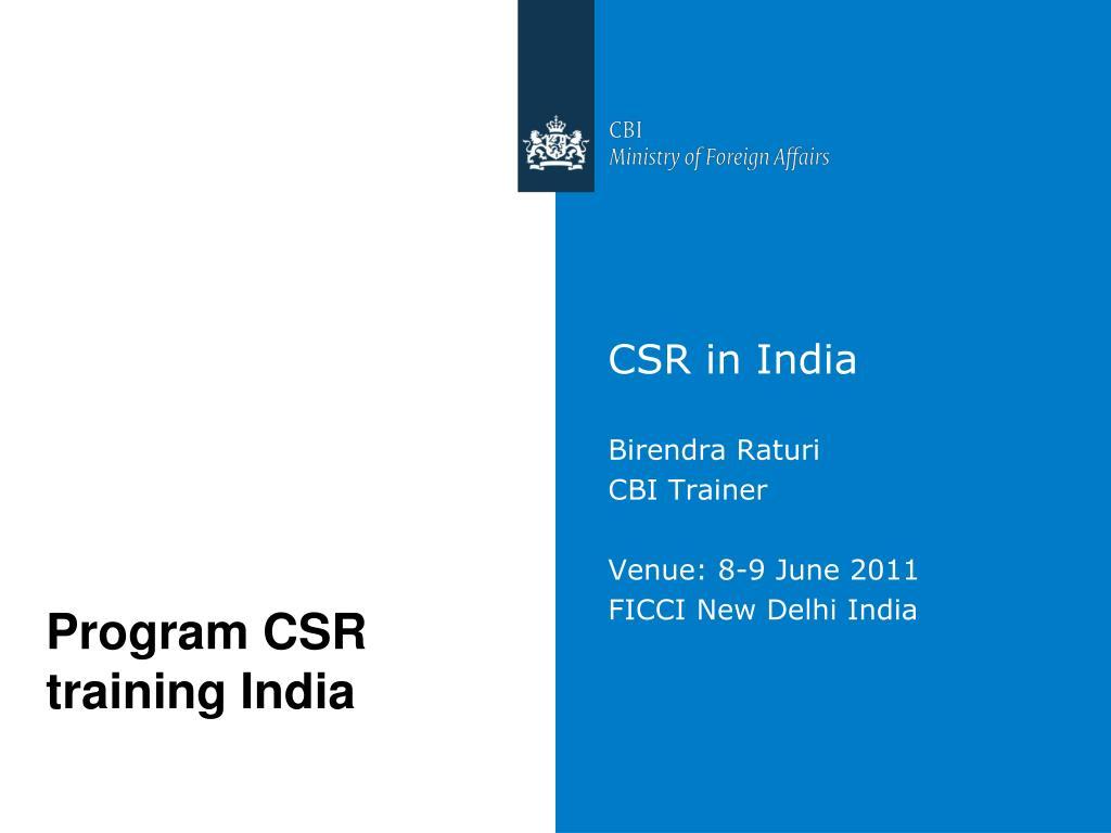 csr in india ppt