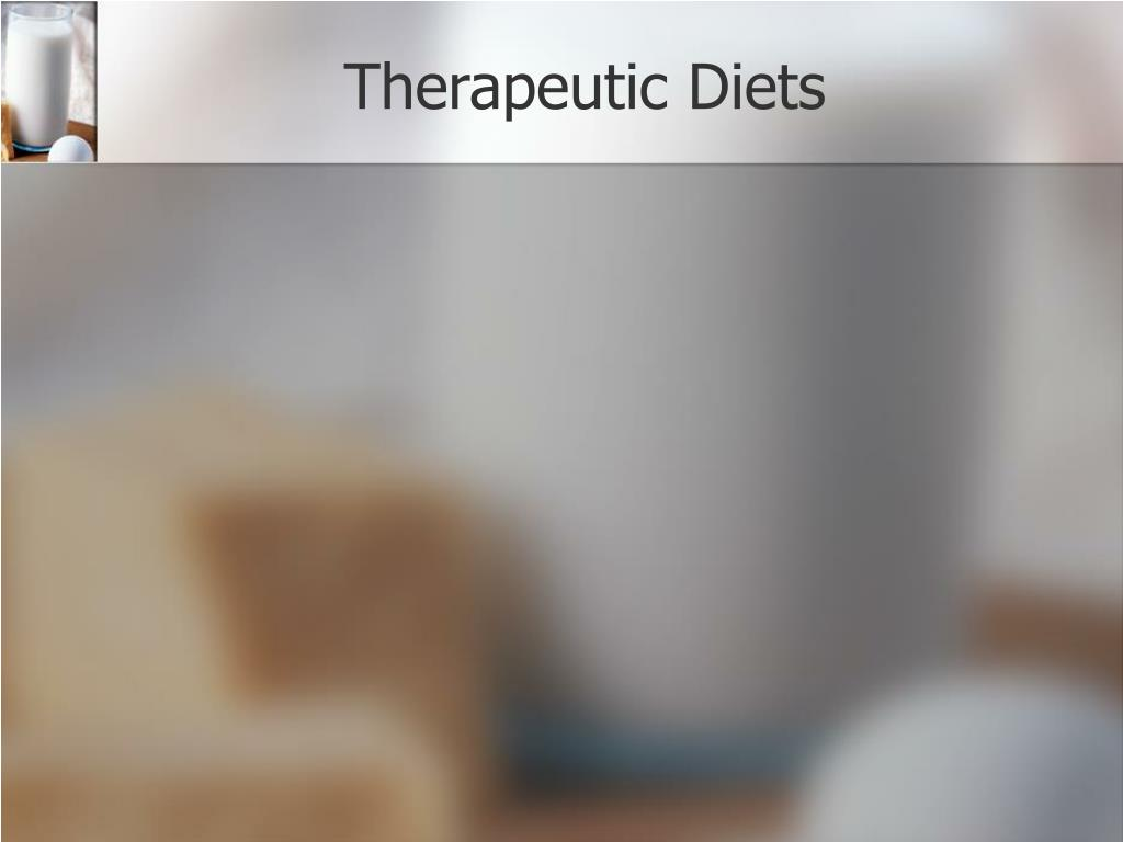 Therapeutic Diets