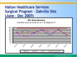 halton healthcare services surgical program oakville site june dec 2007