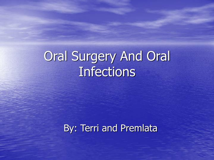 oral surgery and oral infections n.