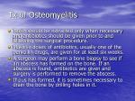 tx of osteomyelitis