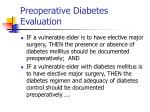 preoperative diabetes evaluation